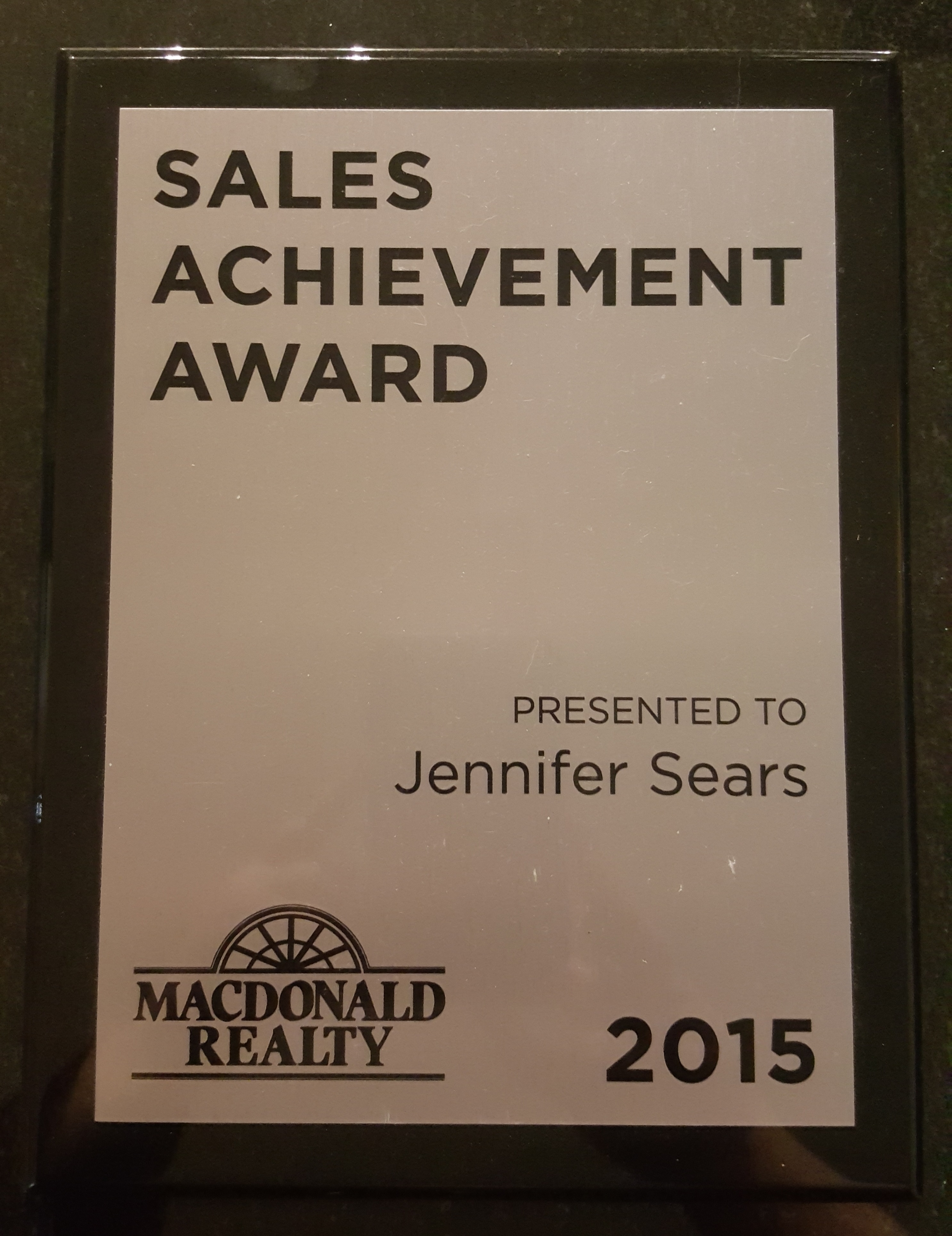 Sales Achievement Award 2015